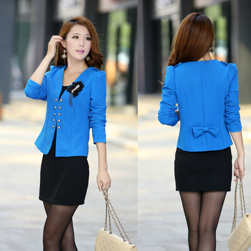 Pin 2013 spring women s double breasted long sleeve slim ol fashion