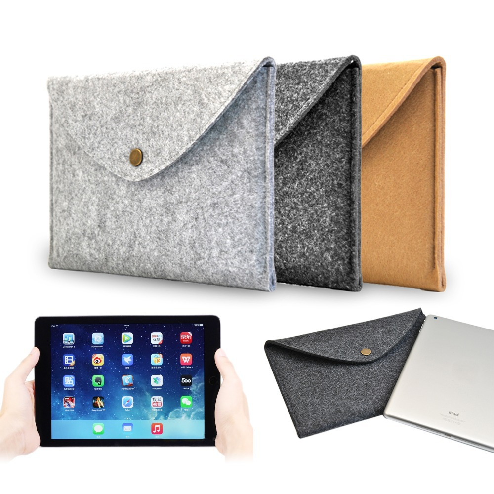 7.9'' Mini Portable Wool Felt Envelope Style Compact Hand Hold Tablet Notebook Cover Case Durable Bag for Apple iPad Mini 1 2 3(China (Mainland))