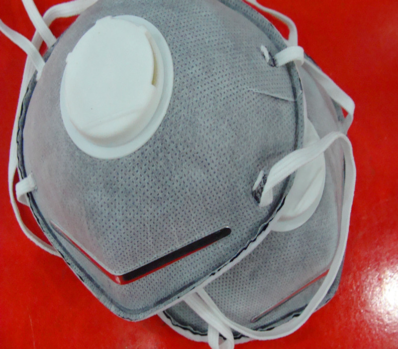 The new 2015 gray dust mask anti-fog haze N95 mask type activated carbon cup respirator occupational health protection mask(China (Mainland))