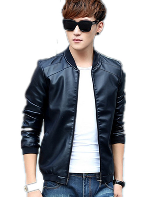 PU Leather Jackets Fall Winter Jacket Coats Men Outwears Brand Clothing Men's Outdoor Slim tide plus velvet high-grade leather(China (Mainland))
