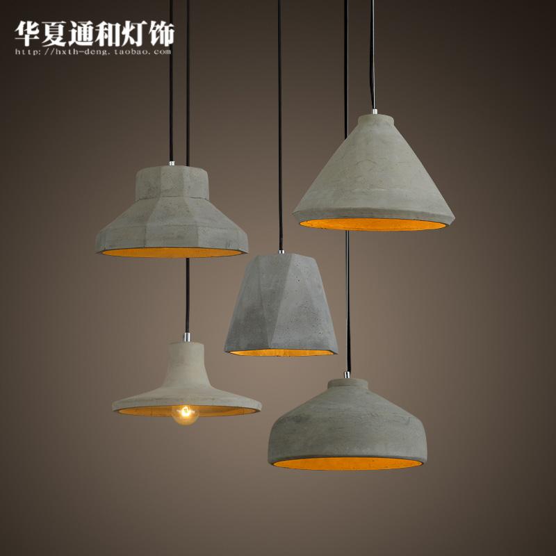 Designer art pendant lights simple creative personality restaurant bar coffee shop retro cement lamp(China (Mainland))