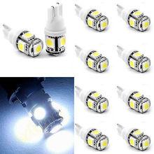 2PCS T10 5050 W5W 5 SMD 194 168 LED White Car Side Wedge Tail Light Lamp 12X30m(China (Mainland))