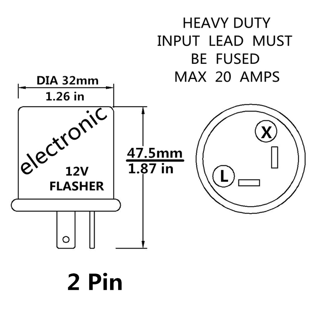 ARMSKY 2pin 12V Relay chrome Electronic LED Turn Signal