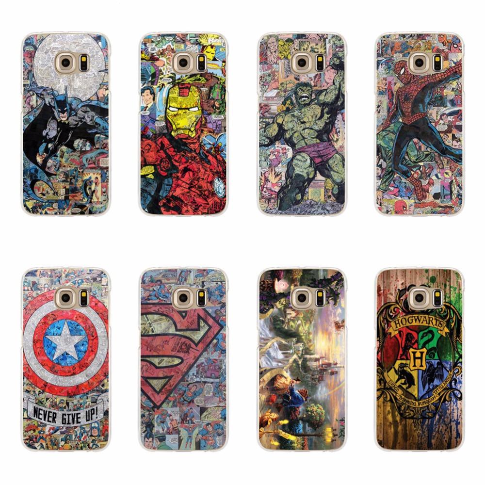 Hulk Deadpool Batman Soft Case For Samsung J5 J7 A3 A5 2015 A510 J710 A310 J510 2016 Note 3 4 5 S3 S4 S5 Mini, S6 S7 Edge Plus(China (Mainland))