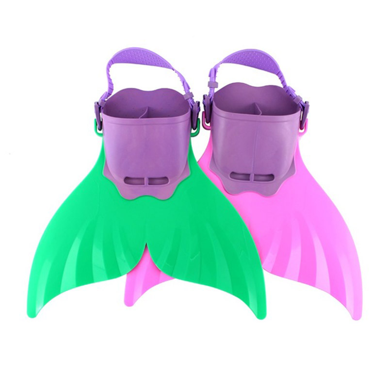 Cute Kid Children Swimming Fins Mermaid Swim Fin Swimming Foot Flipper Training Shoes Tail Diving Feet Tail Monofin 2 Color(China (Mainland))