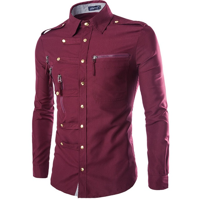 Popular button up shirts buy cheap button up shirts lots for Zip up dress shirt