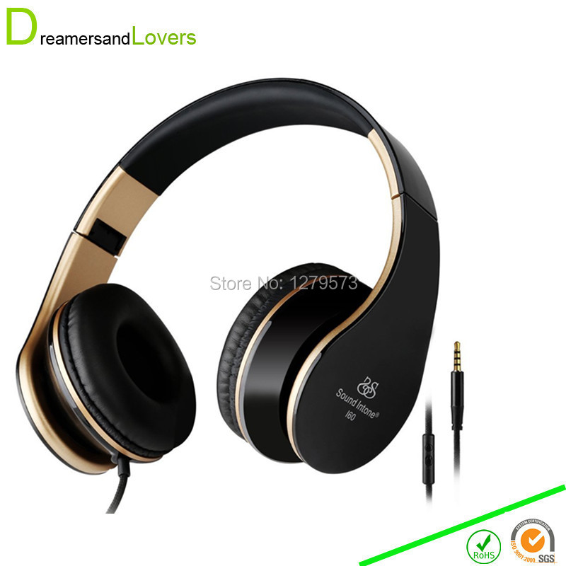 3 5mm Bass font b Headphones b font Foldable Headsets with Microphone and Volume Control Stereo
