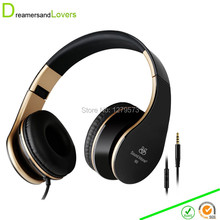 3.5mm Bass Headphones, Foldable Headsets with Microphone and Volume Control,Stereo Earphones for Kids/ Adults for iPhone Samsung