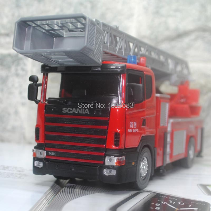 Brand New JOYCITY 1/43 Scale Scania Series Truck Model Toys Fire-Engine Diecast Metal Car Toy For Gift/Kids/Collection(China (Mainland))