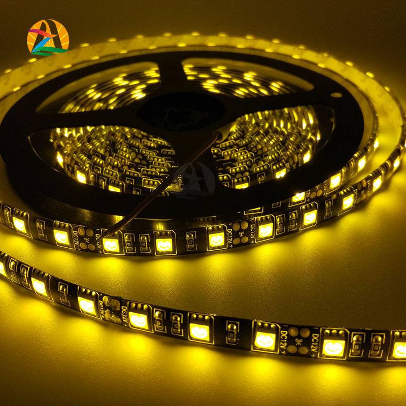 Black PCB Board 5050 LED Single Color RED BLUE WHITE GREEN YELLOW IP65 Strip 5M Led Tape Waterproof 300 LEDs Car Home Led Strips(China (Mainland))