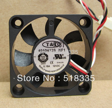 Free Shipping!T&T 4010H12S 12V 0.18A 4010 3 line 3-pin mute graphics north and south bridge cooling fan