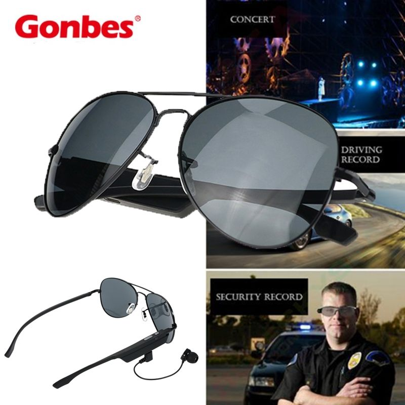 Free Shipping!Gonbes K3-A Smart Bluetooth Sunglasses Bluetooth V4.1 Voice Contro