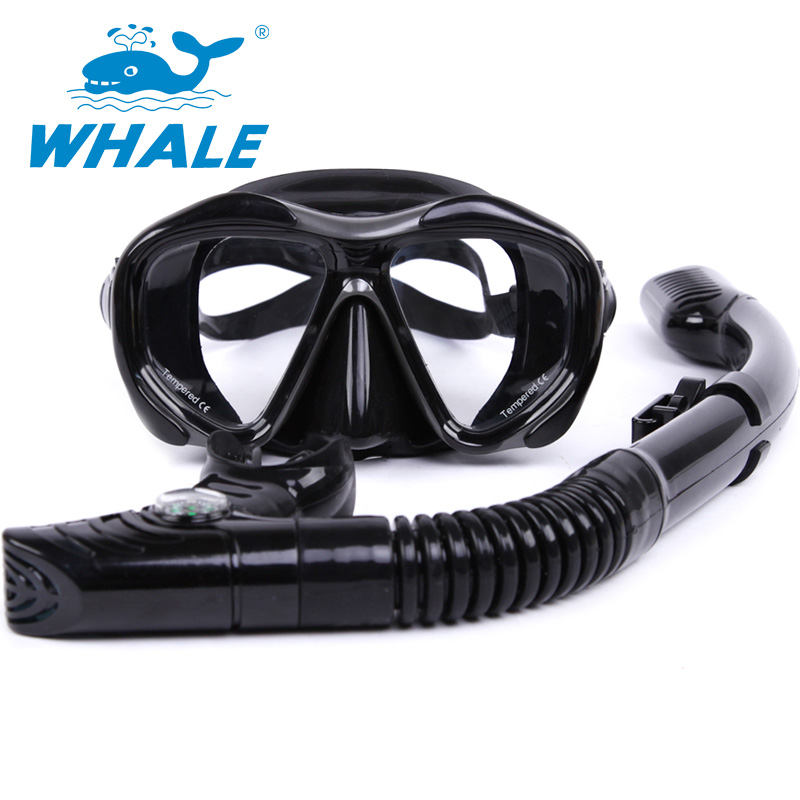 Whale Professional Brand Scuba Diving Mask Diving Mask Snorkel Set Swim Equipment Adults Diving Tube Swimming Scuba Glasses(China (Mainland))