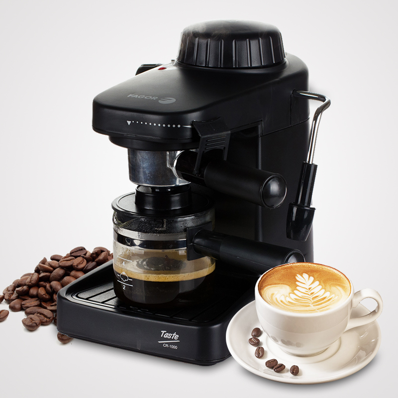 Фотография 6pc Free DHL Home use GR-100 Italian Coffee machine Espresso 1000W Automatic steam fancy coffee maker Set milk foam