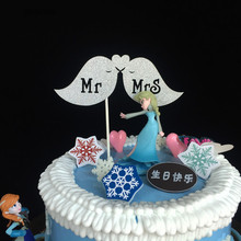 Buy 10pcs Lovely Mr Mrs Party Cake Topper Wedding Decoration Paper Glitter Cake Topper Wedding Favors Wedding Supplies for $2.49 in AliExpress store