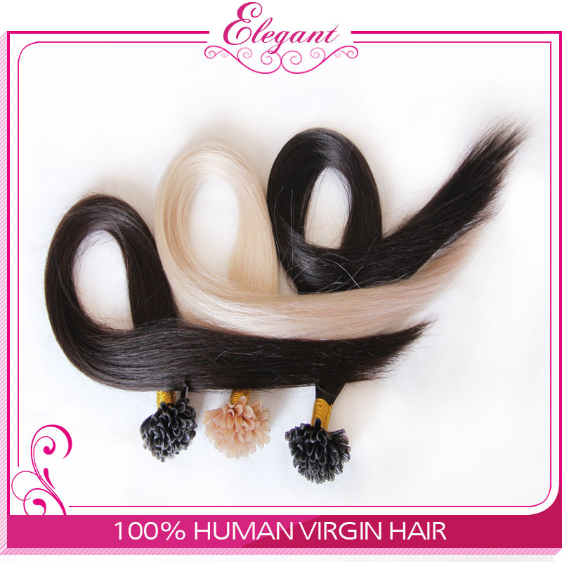 Bulk Stock: Top quality Brazilan 100% Humun Hair Extensions Straight hair U tip 16inch 18inch 20inch 22inch 24inch(China (Mainland))