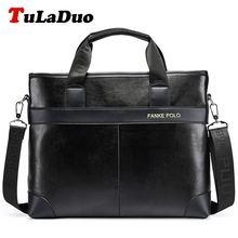 TuLaDuo Brand Bag Men Messenger Bags Portadocumentos Maletin Hombre Men PU Leather Laptop Tote Bags Men's Briefcases aktentasche(China (Mainland))