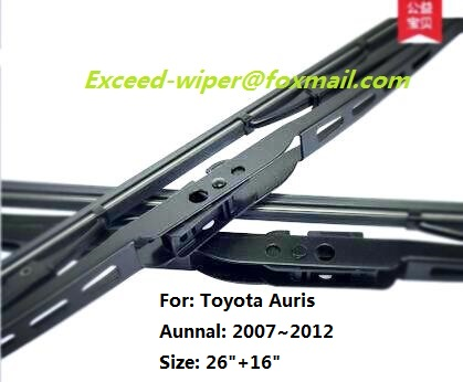 "26""+16"" High Quality Exceed of Traditional Wiper Blade For Toyota Auris(China (Mainland))"