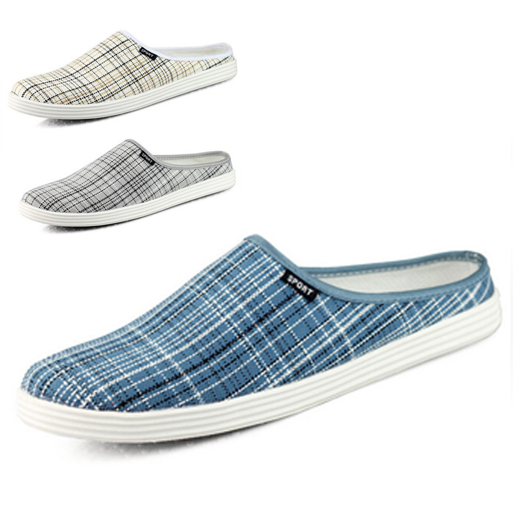 new arrival summer shoes slippers plaid casual loafers