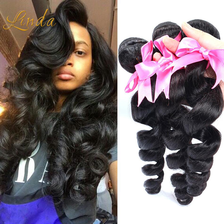 Queen Hair Products 6A Indian Virgin Hair Loose Wave Bundles 3pcs 100 grams/bundle 100% Real Human Hair Weaves extensions<br><br>Aliexpress