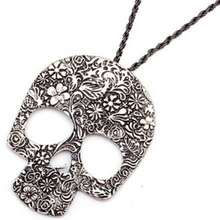 Hot Womens Vintage Skull Gothic Pendant Bib Statement Retro Choker Charm Necklace Classic Jewelry Gift