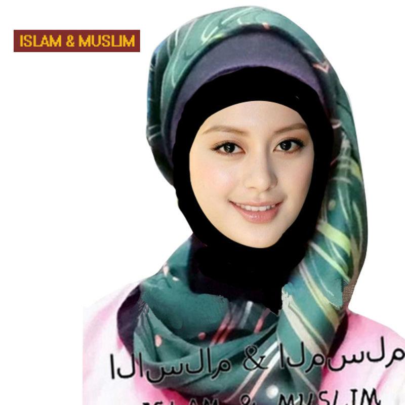 new style headband islam fashion head scarf muslim women instant hijab longturban print silk turbanchiffon shawl(China (Mainland))