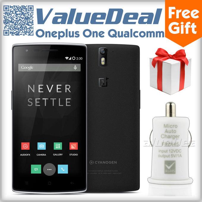 Original Oneplus One 64GB Qualcomm Snapdragon 801 Quad Core 5.5inch 1920*1080 Gorilla Glass 4G FDD LTE Phone 13MP Camera OTG NFC(China (Mainland))