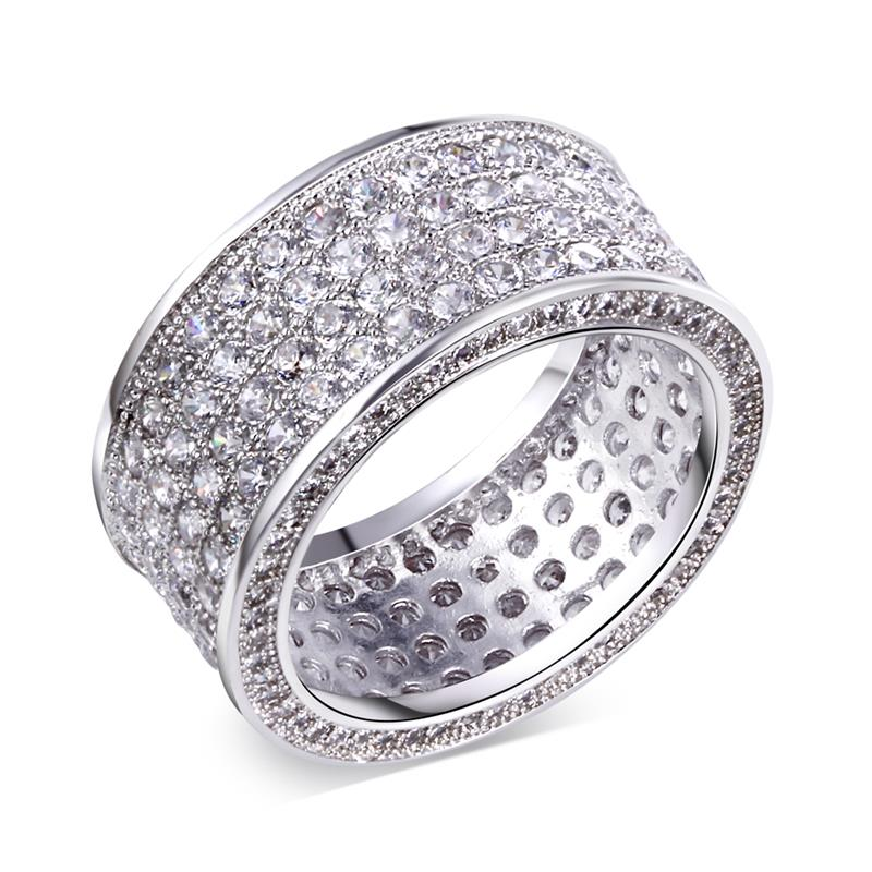 joan chan's jewelry store Finer Ring Women Cubic Zirconia Micro Pave Setting Platinum Plated Rings(China (Mainland))