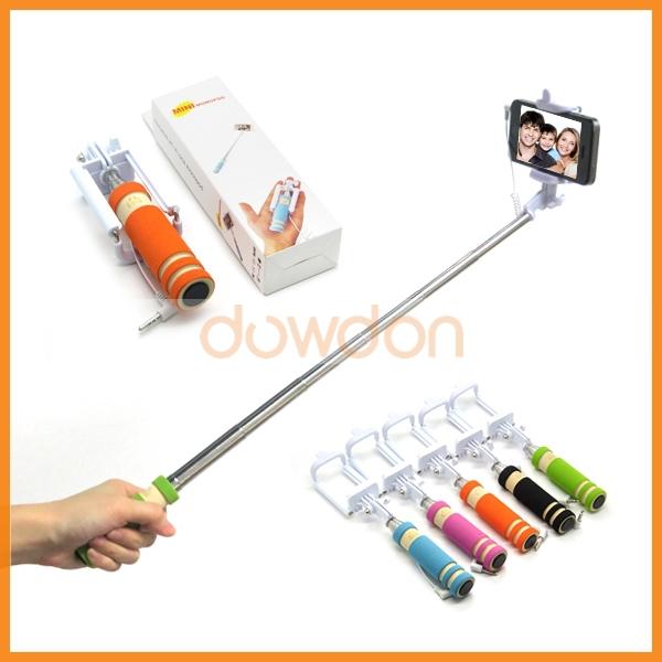 138 480mm pocket handheld extendable supreme mini monopod cable wired selfie stick tripod holder. Black Bedroom Furniture Sets. Home Design Ideas