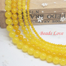 "Buy Yellow Stone Round Beads AAA+ Natural Stone Beads Jewelry Making 15.5""/strand Pick Size 4,6,8,10,12mm Beads, F00015 for $1.39 in AliExpress store"
