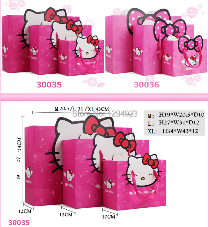 TOP QUALITY BEST SELLING!! child paper bag with ribbon handle Size 31*12*24.2CM(China (Mainland))