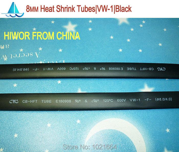 Гаджет  20meters/lot 8MM Heat Shrink Tubes Shrinkable Tubing Insulation Sleeving None Электронные компоненты и материалы