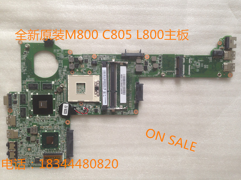 For Toshiba satellite M800 m840 Laptop motherboard with graphics ATI VGA chip DABY3CMB8E0 A000174420 60days warranty