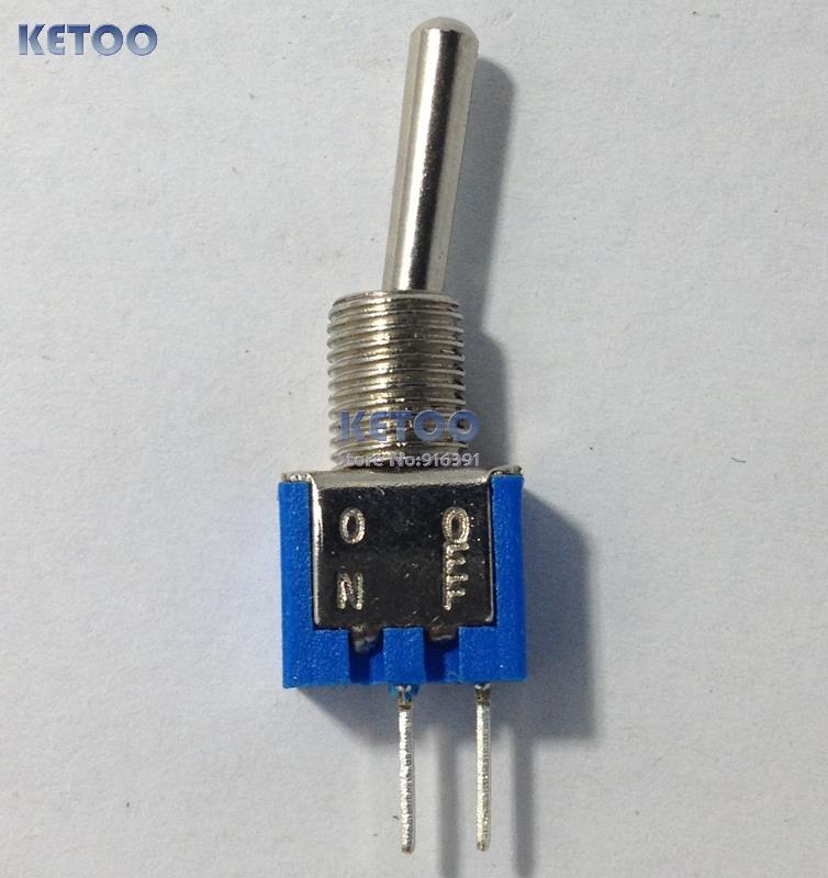 Гаджет  10pcs/lot  2PIN Super Mini Toggle Switch ON/OFF 3A 125V 1.5A 250V AC 5mm hole for mounting Free shipping None Электротехническое оборудование и материалы