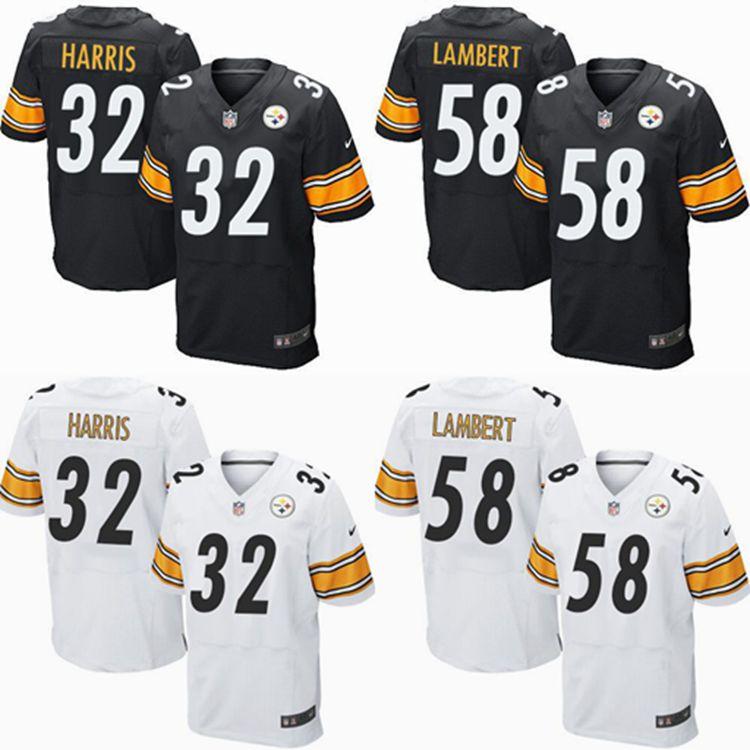 2016 Men Pittsburgh Steelers #84 Antonio Brown #7 Ben Roethlisberger 32# Franco Harris,58# Lambert black white #26 LeVeon Bell(China (Mainland))