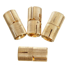 Best Price 4pcs 18mm 4Pcs Brass Barrel Invisible Concealed Hinge For Caravan Worktops DIY Project Durable To Use(China (Mainland))