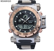 Relojes Hombre luxury brand Men military sports watches Dual Time Quartz Digital Watch silicone wristwatches relogio masculino(China (Mainland))