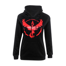 2016 Autumn Women's Sweatshirt Long Sleeved Pokemon Go Hoodies Loose Sport Hooded Female Fashion Clothing Plus Size XXXL JA7061
