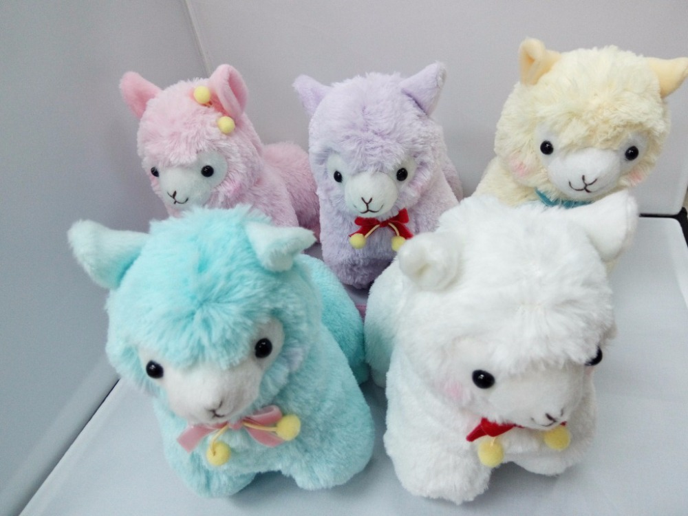 10pc/Lot Mixed Color 17cm velvetribbon Alpaca Japan Alpacasso Plush Toy Kids Alpaca Christmas Gifts Toy(China (Mainland))