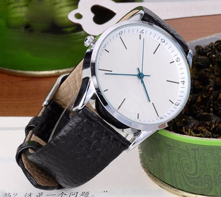 Марки TS Классический Моды Японии Кварцевые Часы Мужчин Против Часовой Стрелки Кожаный Ремешок Часы Большой Циферблат Часы Водонепроницаемые Наручные Часы