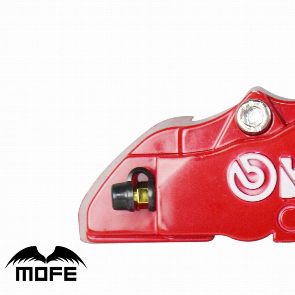 Free shipping Replacement Parts Plastic Brembo Brake Caliper 4pcs lot Car Front Rear 3D Disc Cover