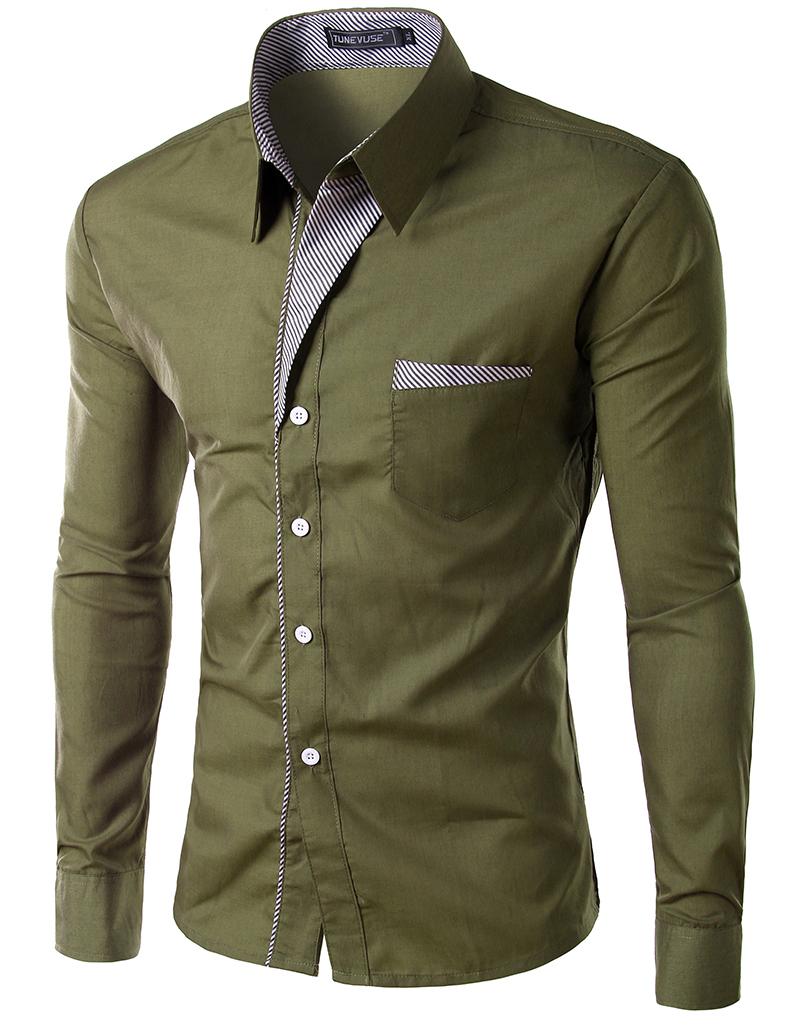 Shirt design gents - 2015 New Dress Fashion Quality Long Sleeve Shirt Men Korean Slim Design Formal Casual