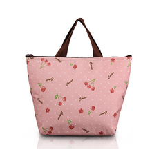Portable Shipping Bag Flower Oxford Picnic Thermal Bag Neoprene Lunch Bag Food Cooler Bags Thermal Women