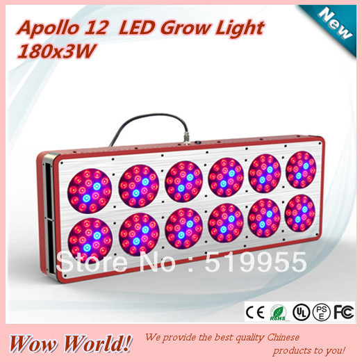 Best selling 180*3W Apollo12 LED grow light for Agriculture Greenhouse, grow tent, greenhouse, CE ROHS PSE FCC, customizable(China (Mainland))