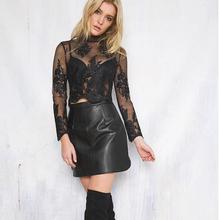 Buy KASY Women Winter Casual High Waist PU Leather Zip Back Short Suede Skirt Rouge noir Jupe Courte en Cuir Femme Hiver Rock Kurz for $12.73 in AliExpress store