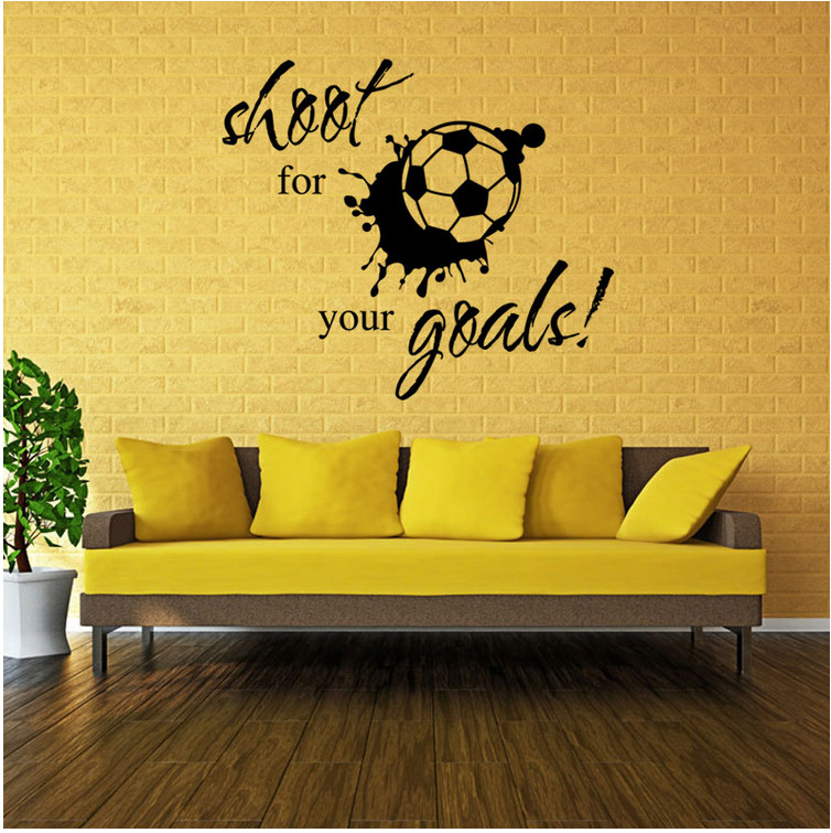 A pcs High Quailty Removeable PVC DIY Wall Sticker Home Decor Decal stickers Home Appliances. shoot for your goals(China (Mainland))