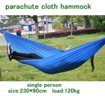 Parachute Cloth Single Person Hammock Tourism Camping Hunting Leisure Hammock 230 X 90cm Camping Hammock 1pc