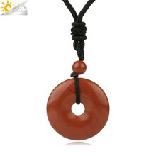 CSJA naturalne kamienie szlachetne pączek wisiorek naszyjniki dla dziewczyny Reiki różowy kryształ tygrysie oko zielony awenturyn Moss agaty mężczyzn liny S458(China)