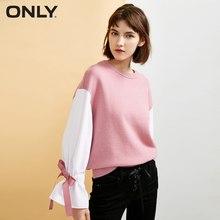 Только женский полосатый трикотажный свитер на шнуровке с манжетами на шнуровке   118324569(China)