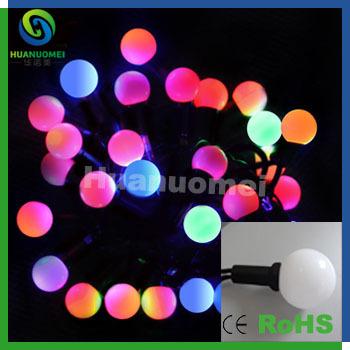WS2801 Chip DC5V G40 digital dream color led ball string holiday decoration waterproof lamp(China (Mainland))